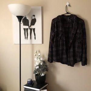 Forever 21 hooded flannel jacket